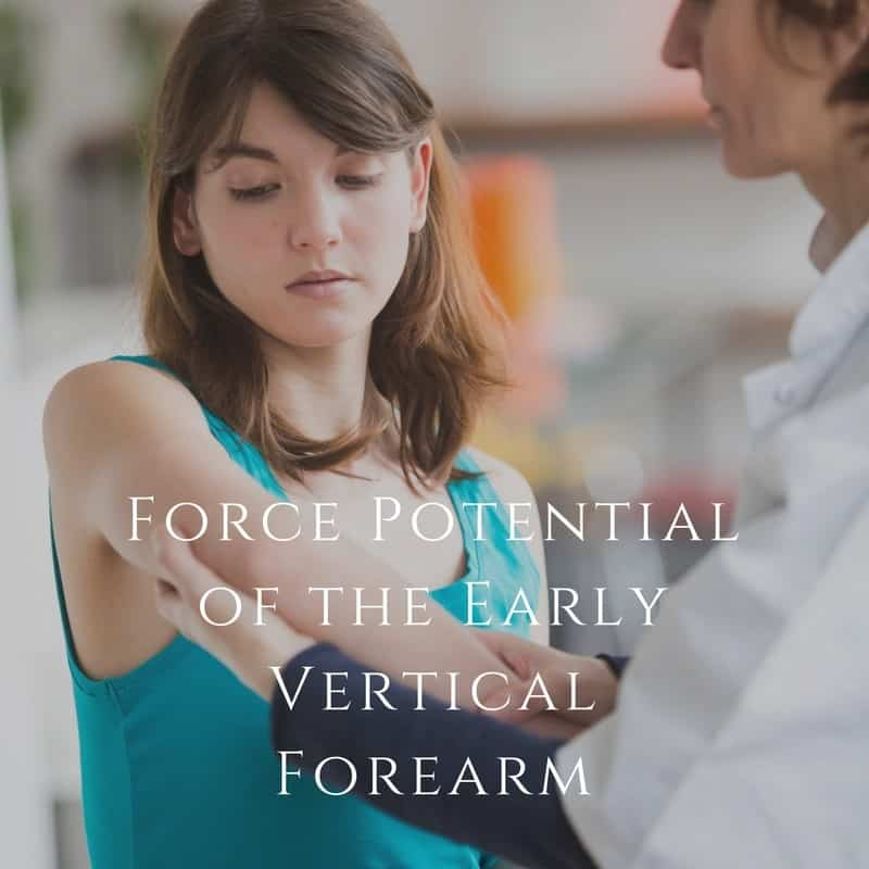 Force Potential of the Early Vertical Forearm
