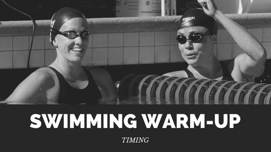 swimming warm-up timing