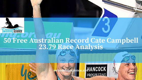 50 Free Australian Record Cate Campbell 23.79 Race Analysis