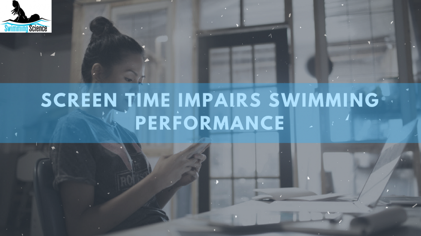 screen time impairs swimming performance