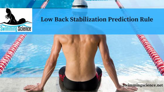 Low Back Stabilization Prediction Rule