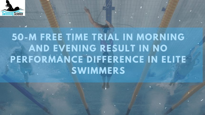 50-m Free Time Trial in Morning and Evening Result in no Performance Difference in Elite Swimmers